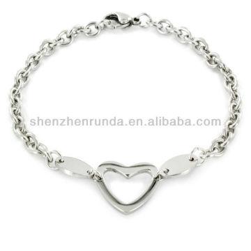 Jóias Moda Aço Inoxidável Polido Oval Cut-out Bracelete Vners Fabricante