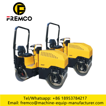 Double Drum 1.5 Ton Vibratory Road Roller