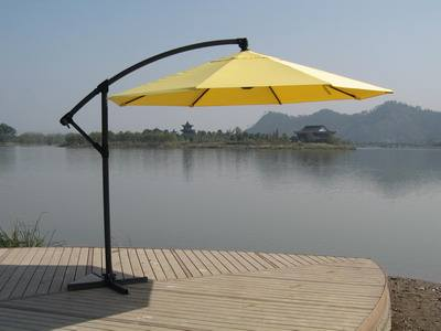NEW DESIGN OUTDOOR BANANA HANGING PARASOL near lake