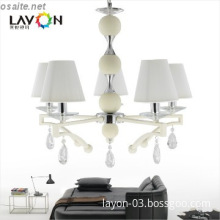 5 lights e14 string shade white modern chandelier