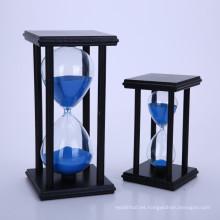 Reloj de arena decorativo casero al por mayor del juguete para los niños