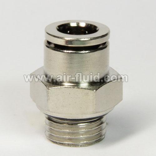 Straight male adaptor bspp thread pneumatic metal push in
