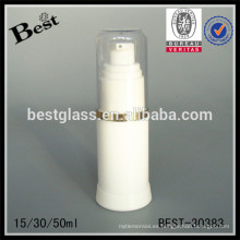 Botella sin aire opaca del cilindro 15/30 / 50ml con la bomba y el casquillo, botella del suero sin aire, botella airless cosmética de acrílico