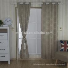Nouvel arrivé Modern Short Style 100% polyester en paillettes Jacquard rideau et tissu rideau