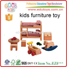 8Pieces Classic Style Wooden Children's Bedroom Toy Furniture Set