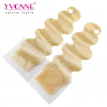 Color 613 Brazilian Human Hair Lace Closure