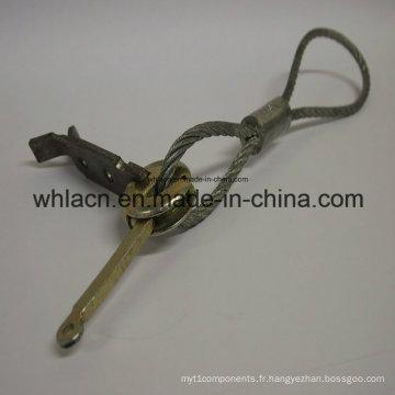 Embrayage d'anneau de levage de béton préfabriqué avec la corde métallique pour le matériel de construction (2.5T)