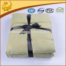 2015 Nouvelle Forme Corée Belle Couleur Multipurpose 100% Bamboo Fibre Jacquard Blanket