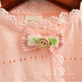 Baby Girl Sleeveless Dress Tippets With Lace Trim And Decorative Bow