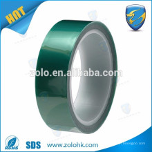 Hot sell green PET high temperature tape for powder coating