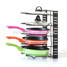 Altura ajustable hogar cocina despensa almacenamiento Racks Organizador ollas olla tapa utensilios de cocina estante de hierro