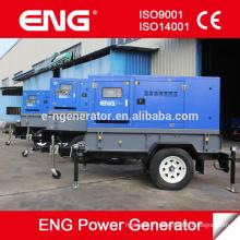 Générateur de remorque mobile ENG 72kva, groupe électrogène portable 58kw