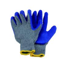Gant de lin en tricot 10g T / C avec gant de latex et revêtement en latex