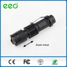 Mini Portable Flashlight Aluminum Alloy Super Bright Rechargable 7W 300LM Mini Led Flashlight