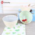 Hot sale glaze inside white outside decorative ceramic stoneware fruit bowl