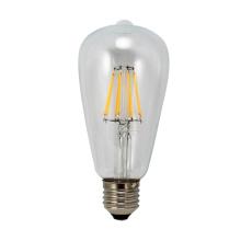 Filamento de LED 6W de luz T64-Cog 650lm 4PCS filamento