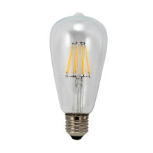LED Filament Light T64-Cog 6W 650lm 4PCS Filament