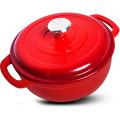 Enameled Cast Iron Dutch Oven, Casserole Dish with lid