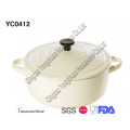 Ceramic White Casserole with Lid for Wholesale