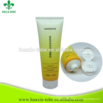 wholesale cheap soft empty facial cleanser pe cosmetic tube for sale