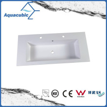 Polymarble Rectangular Single Lever Bathroom Sink Acb1221