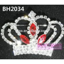 Último estilo corona cristal pin