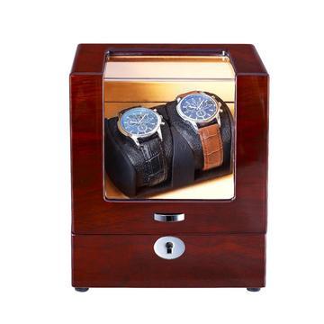 Automatic Wood Watch Winder in Wood-Grain
