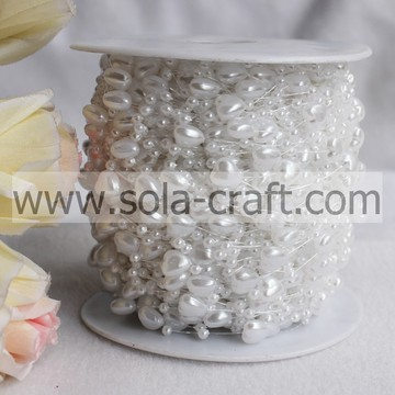 Heart-shaped Artificial Pearl Garland Chain by Roll for Chandelier Chains, Curtains, Bracelet and Necklace