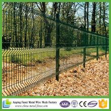 Fácilmente montado PVC revestido de aço Metal Wire Mesh Fence