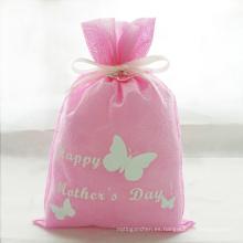 Bolsas de empaquetado del regalo del día de la madre de la mariposa rosa