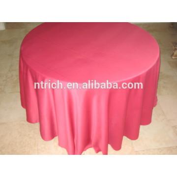 pano de mesa-redonda cetim 120 polegadas para casamento
