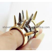 Anillo de dedo / forma plateada anillo de dedo del perno prisionero / joyería de moda (XRG12052)