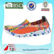 Novo estilo fresco mulheres elástica sapatos, sapatos de moda de verão
