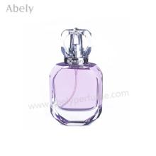 Botella de perfume cristalina vendedora caliente con el pulverizador fino de la niebla