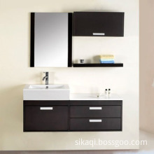Wall Hung Solid Oak Wood Bathroom Vanity with Espresso Painted