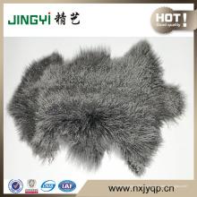 Оптовая Длинные Волосы Естественной Формы Вьющиеся Монгольской Овчины