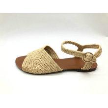 sandale de mode supérieure en raphia pour femme