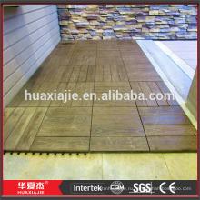 Деревянные пластиковые напольные плитки WPC для интерьера