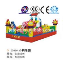 JQ23016 lâminas infláveis para venda, brinquedo inflável, deslizamento gigante inflável com pista dupla