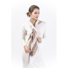 Daisy-100%Silk Digital Printed Square Shawl