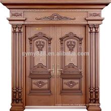 puerta principal del chalet de la puerta de los hombres de acero de la venta caliente con la bisagra