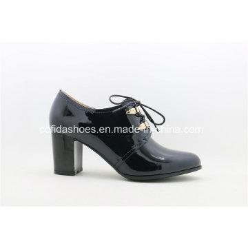 New Comfort Medium Heels Leather Women Shoes