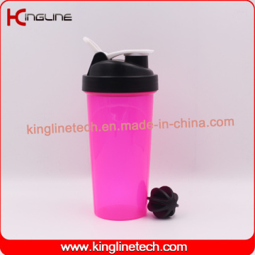 700ml Bouteille de secousse à protéines plastiques sans qualité BPA sans filtre (KL-7033)