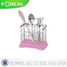 Rack de utensílios de cozinha de aço inoxidável