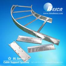 Bandejas de cable codo Sistema de tipo escalera y accesorios (UL, cUL, NEMA, SGS, IEC, CE, ISO)