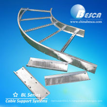 Elbow Cable Trays Ladder Type Système y accessoires (UL, cUL, NEMA, SGS, CEI, CE, ISO)