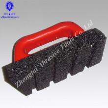 P24 # 155 * 78 * 25mm de carbure de silicium aiguiser la pierre à huile avec poignée