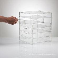 Unidade de gaveta acrílica para criar armazenamento útil