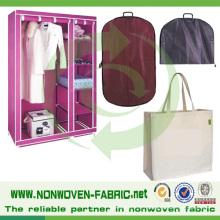 Utilisation non-tissée de tissu de Spunbond de 100% pp pour le sac de costume