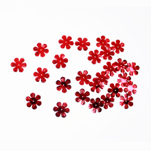 Red Flower shapeSequin